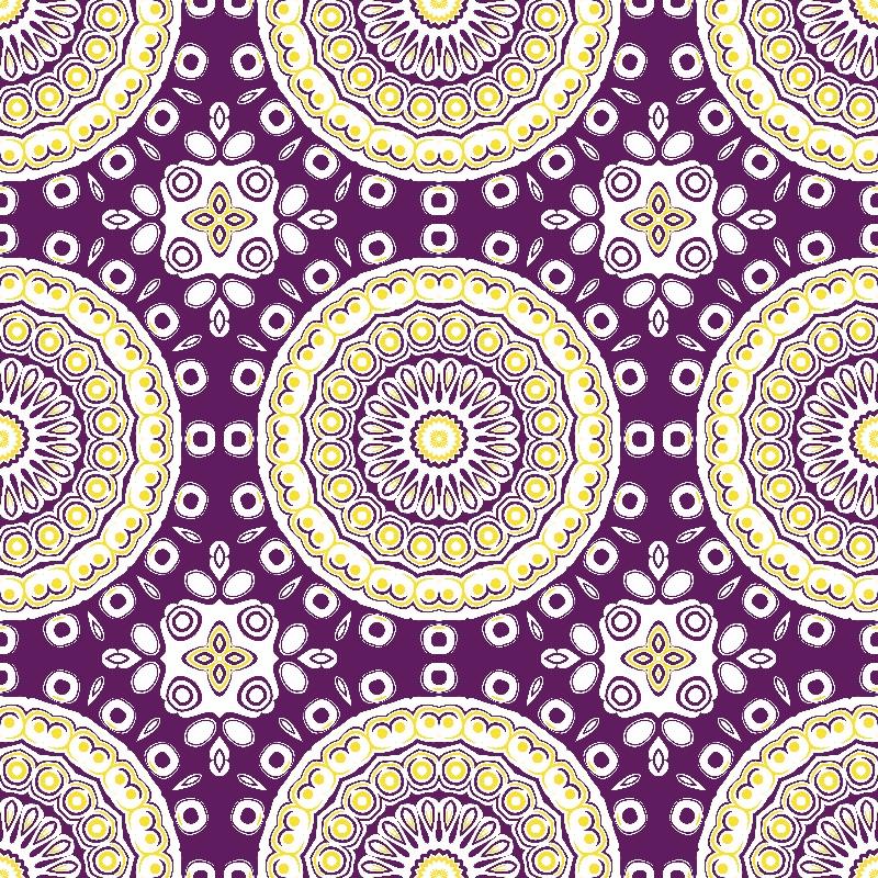 Mandala Purple and Yellow