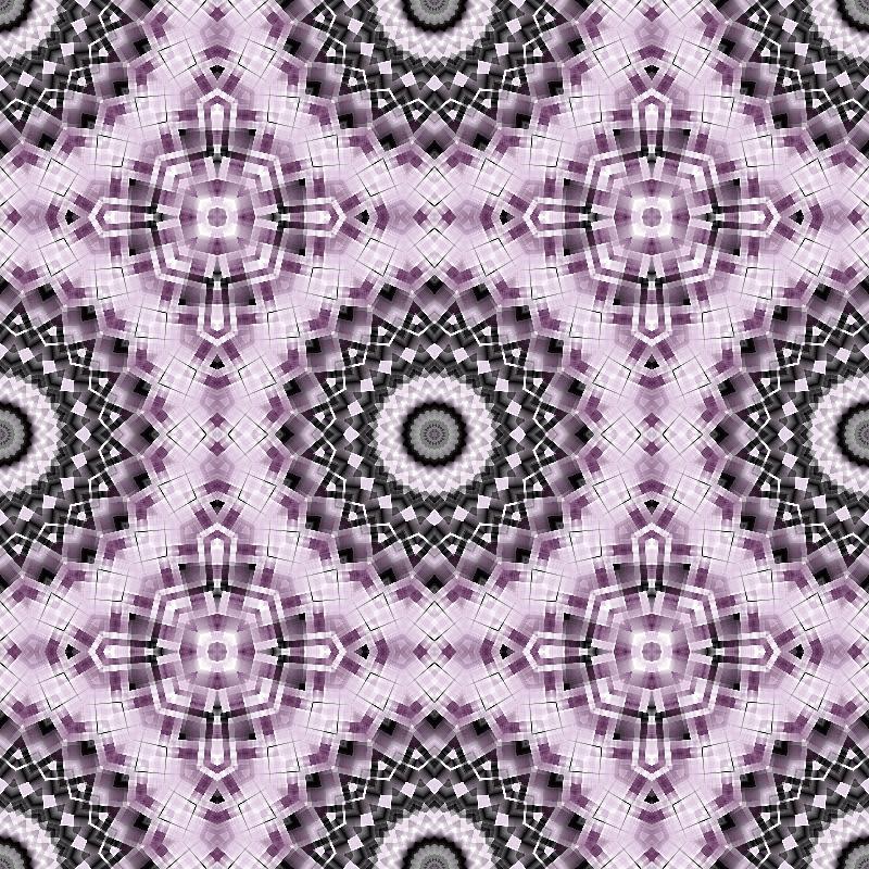 Mandala in Purple  Black