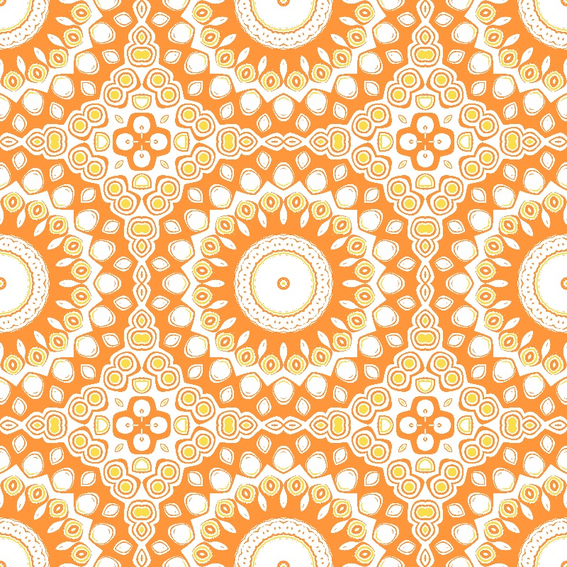 Orange and Yellow Mandala