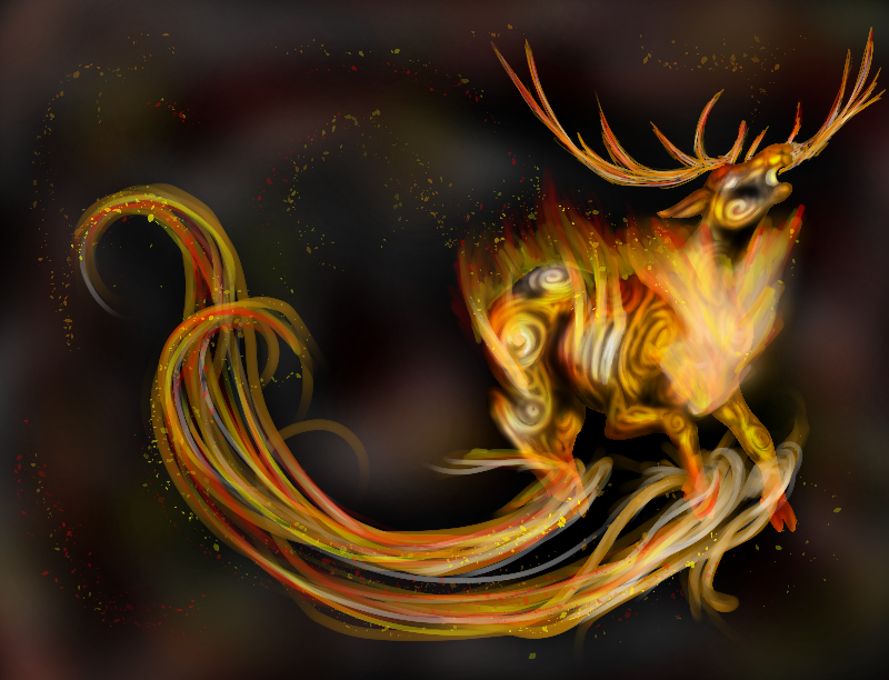 Fire elemental stag