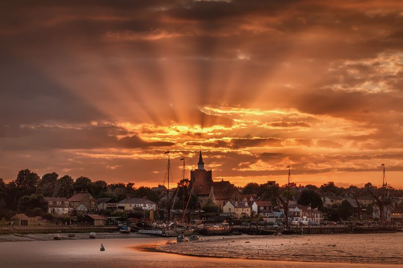 Hythe Quay Sunset Maldon
