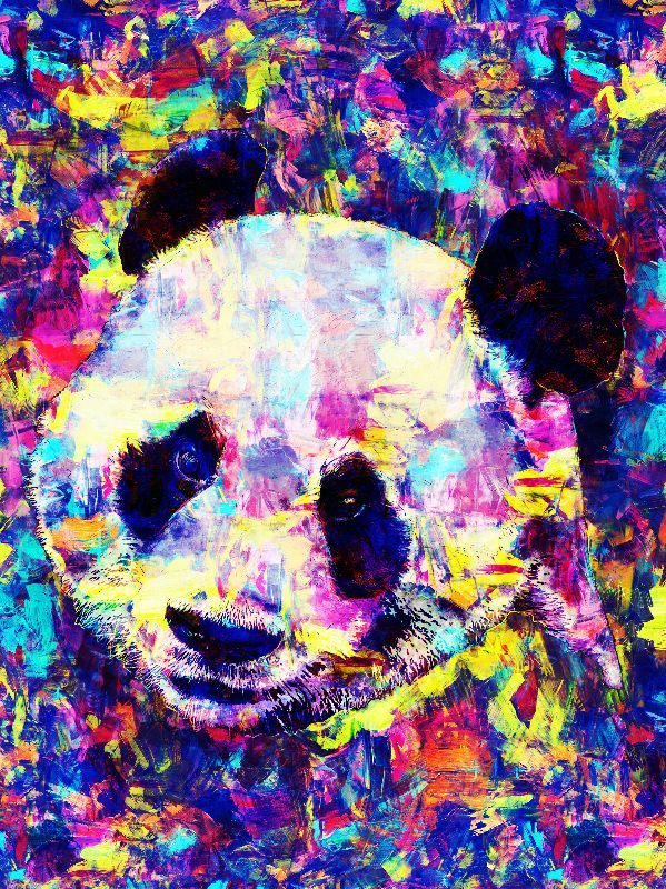 Abstract Panda painting