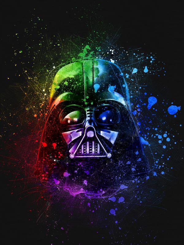 Darth Vader Splash Paint