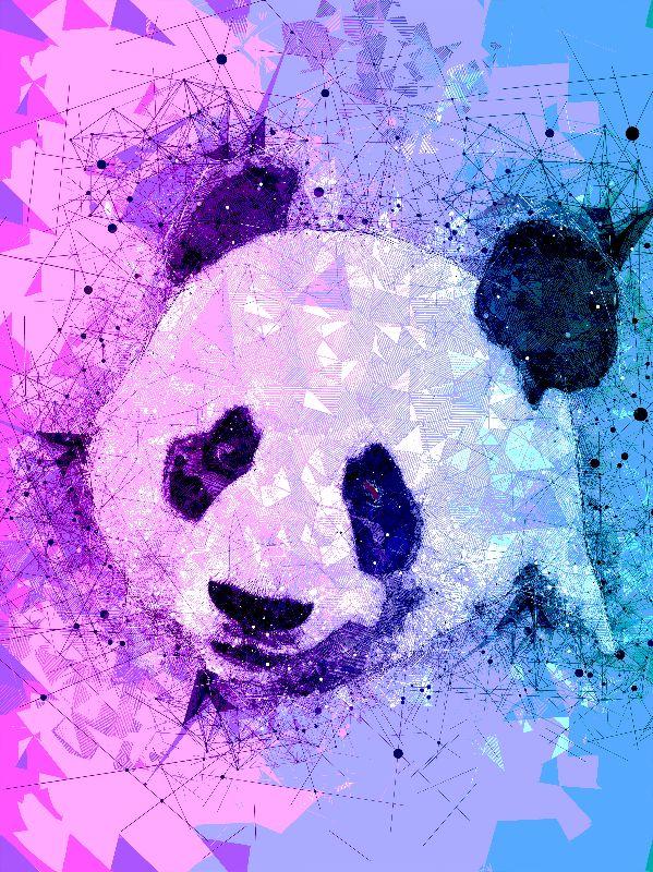 Geometric Panda Art