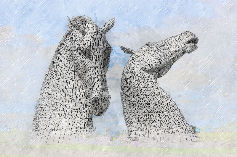 Kelpies Horse Heads