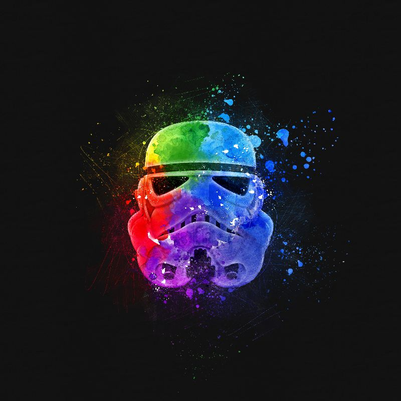 Stormtrooper Splash Paint