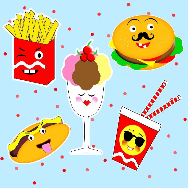 Funny Emoji Fast Food