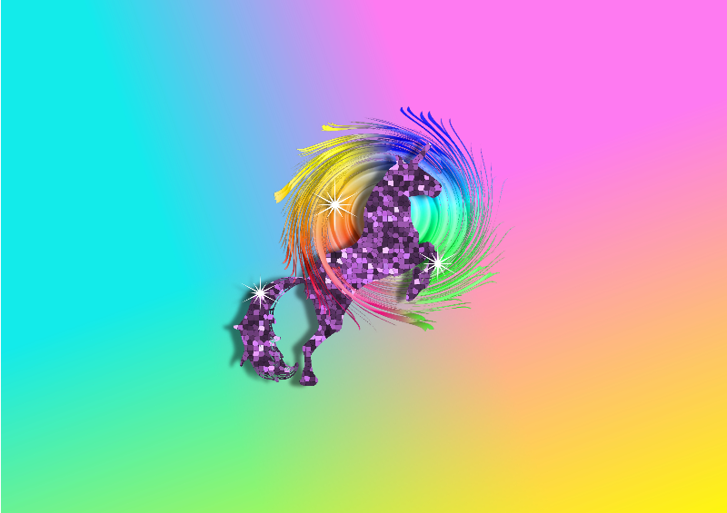 Sparkly Rainbow Unicorn