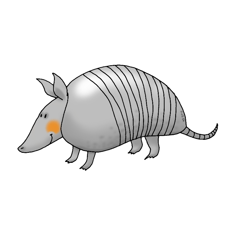 Funny armadillo cartoon