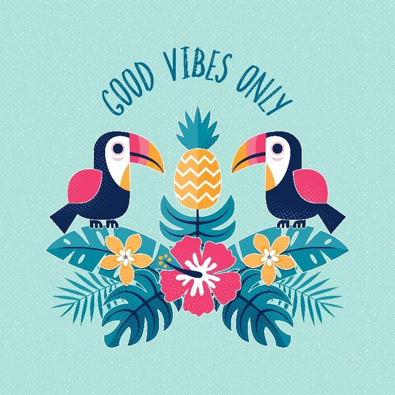 Good Vibes Only  Aqua