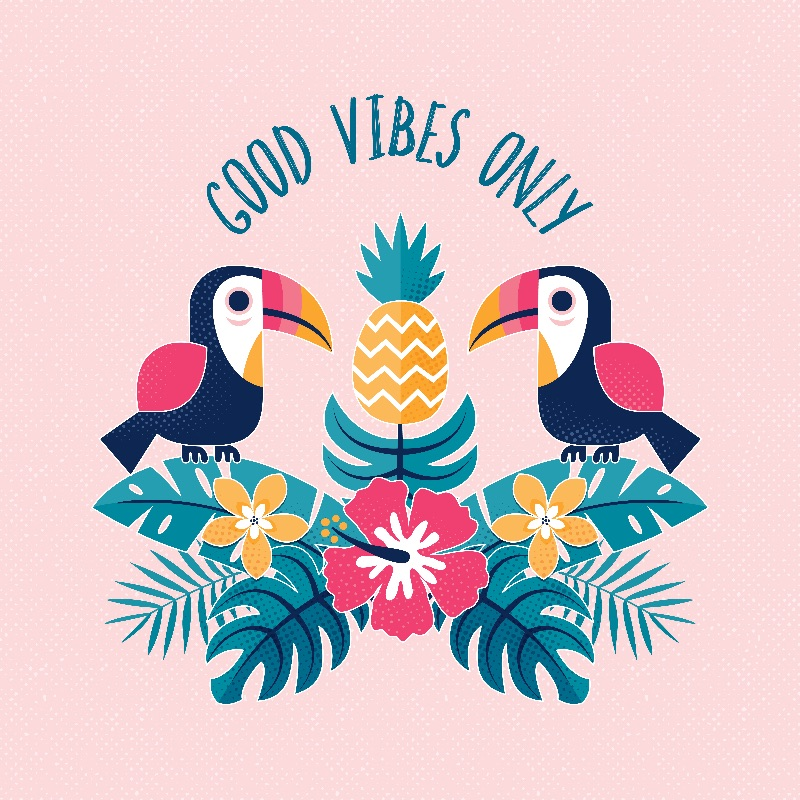 Good Vibes Only  Blush