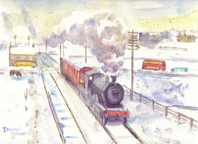 Class D34 near Corbridge