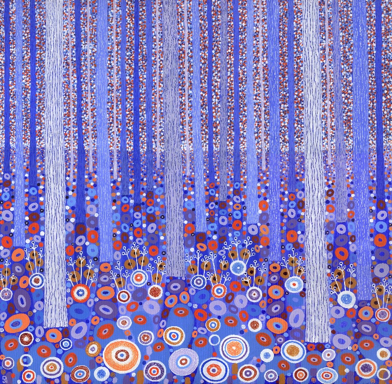 Blue Orange Forest