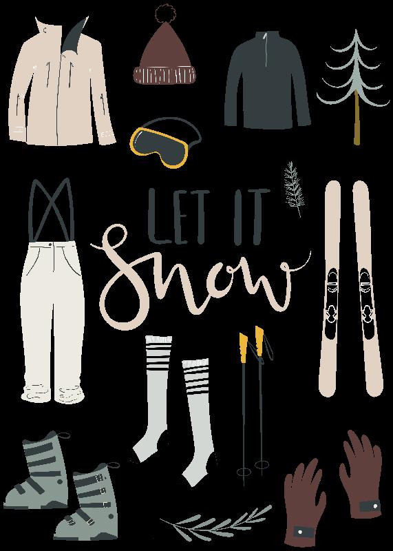 Let it Snow  Portrait
