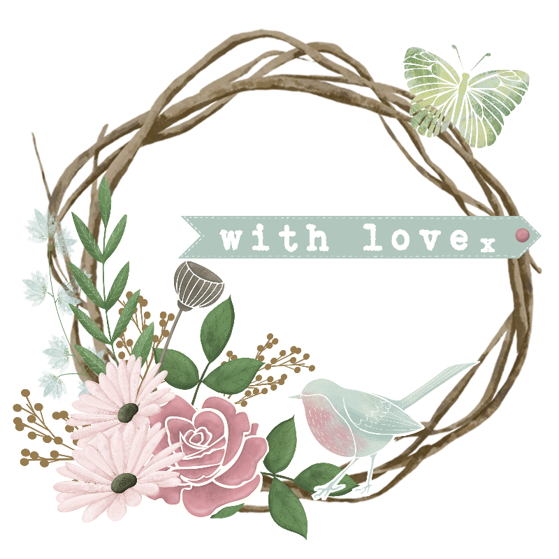 With Love  Floral Wreath