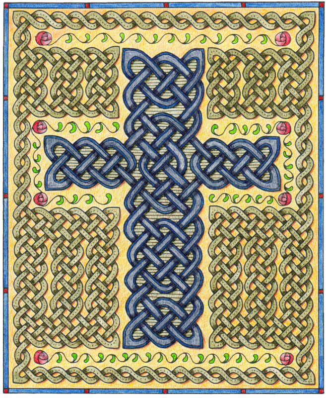 Celtic Cross and Roses