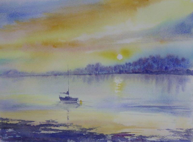 Impressionist lagoon