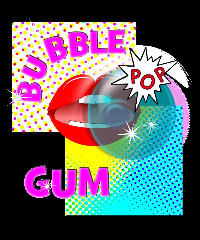 Comic Pop Art Bubble Gum