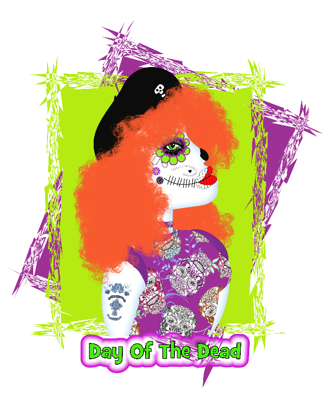 Day Of The Dead Red Head