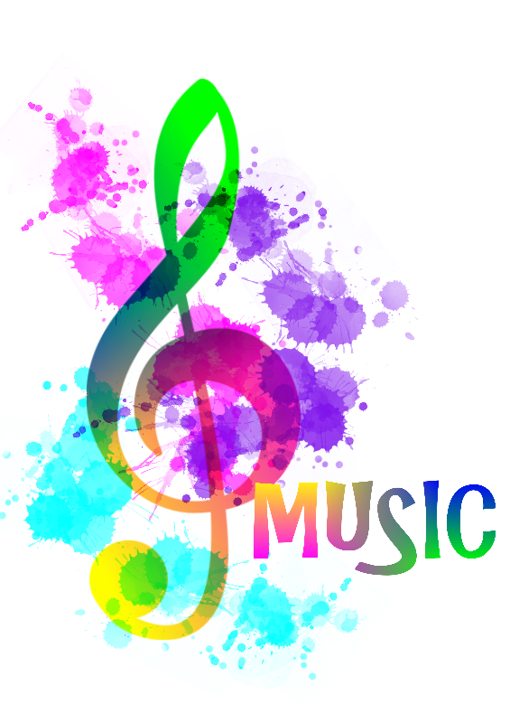 Funky Music Note Rainbow