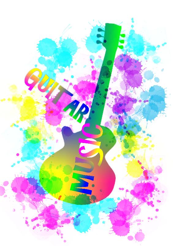 Funky Rainbow Guitar