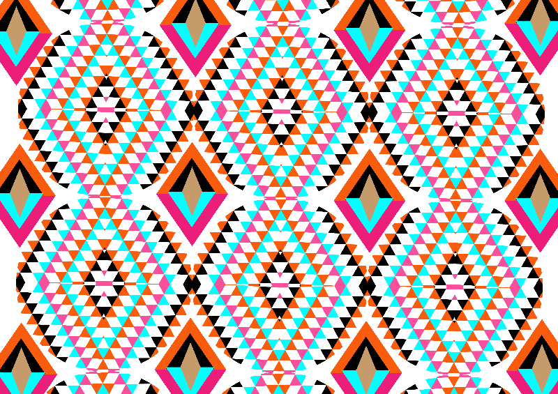 Geometric Diamond Print