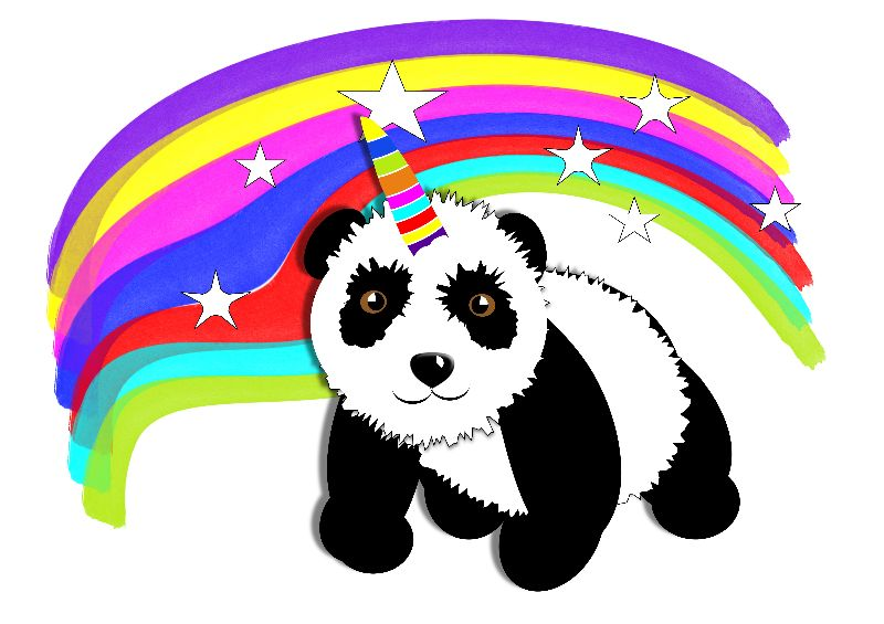 Panda Unicorn Rainbow