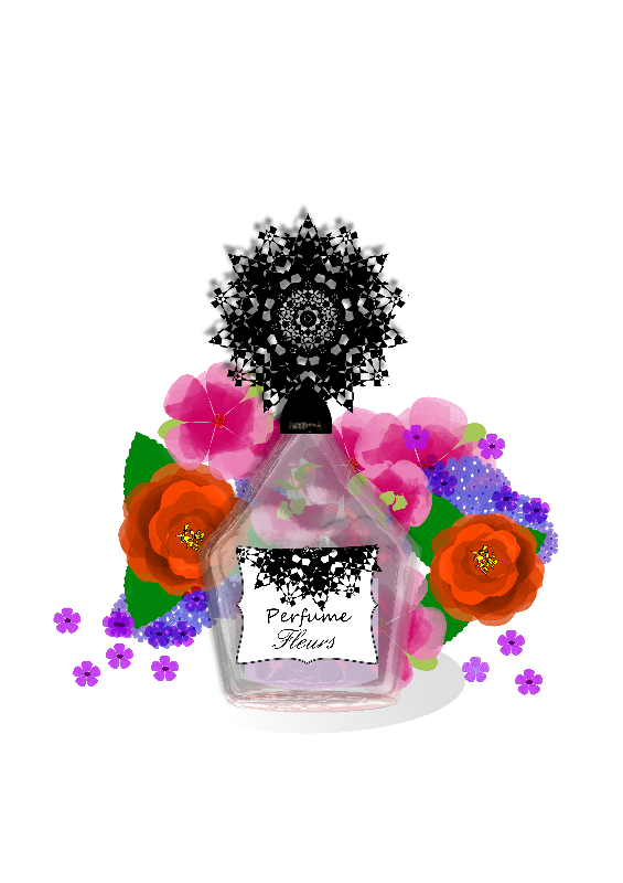 Perfume Bottle Flowers