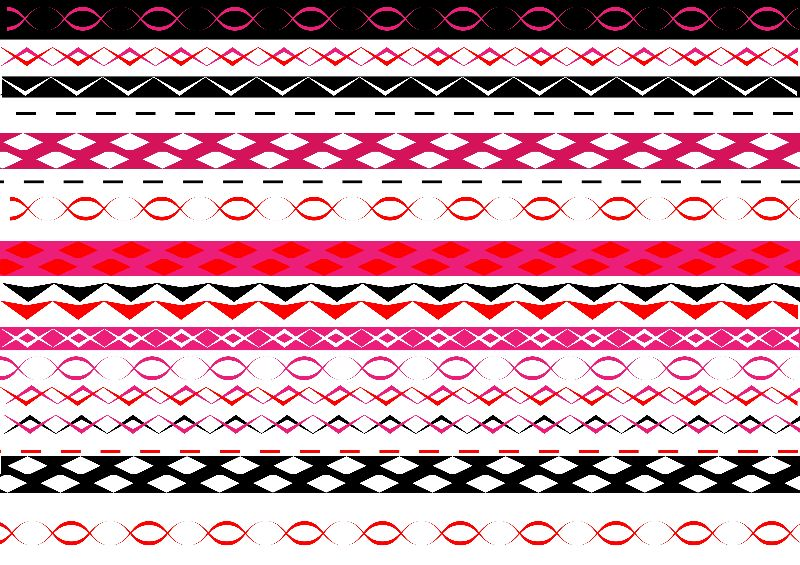 Pink Red Tribal Print