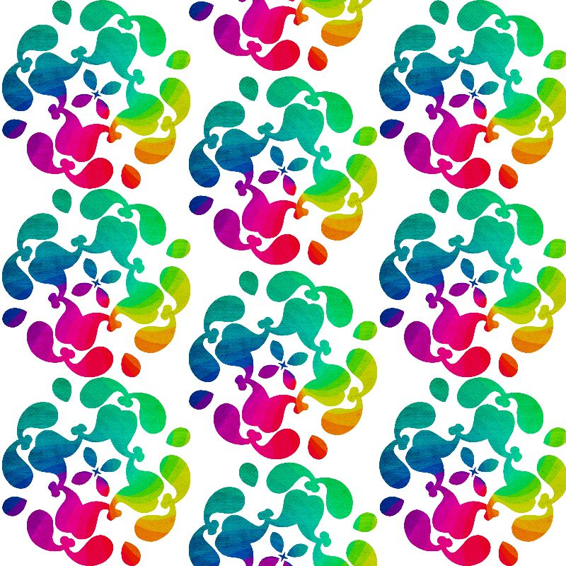 Rainbow Floral Paisley