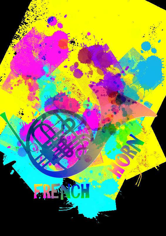 Rainbow French Horn
