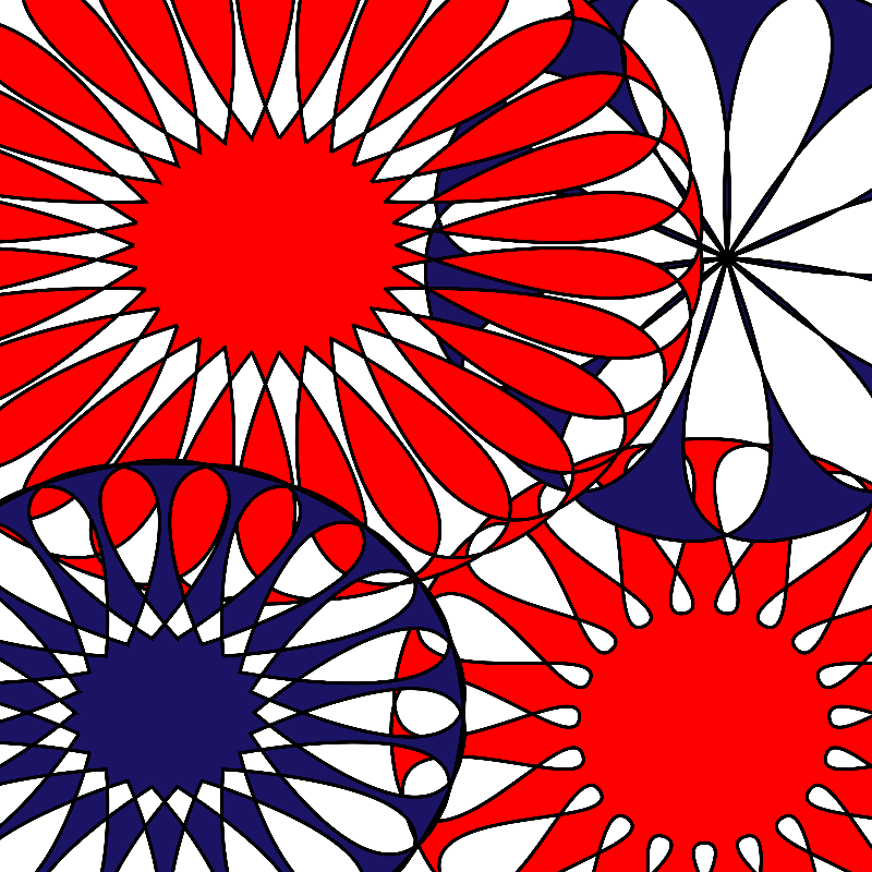 Red White Blue Floral