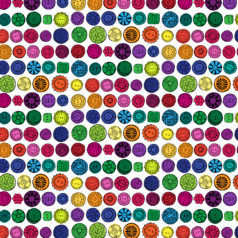 Vintage buttons  Rainbow
