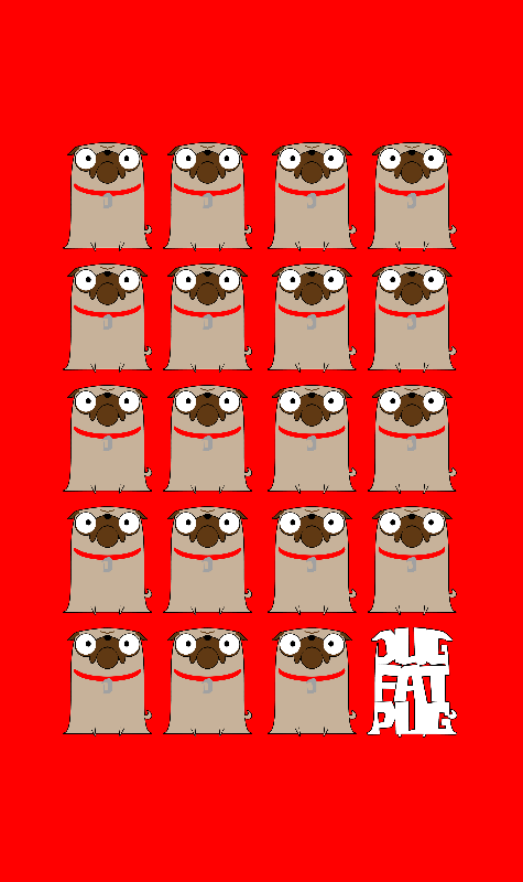Dug Fat Pug Repeat Design