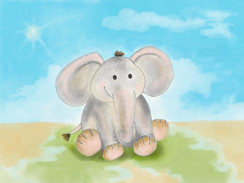 Elephant at the Beach