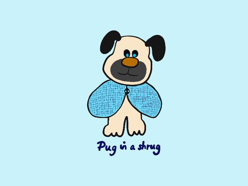Pug in a Shrug