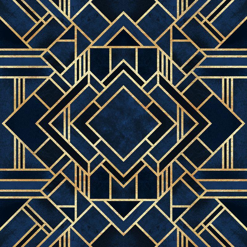 Art Deco Fancy Blue