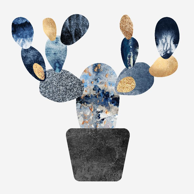 Blue  Gold Cactus
