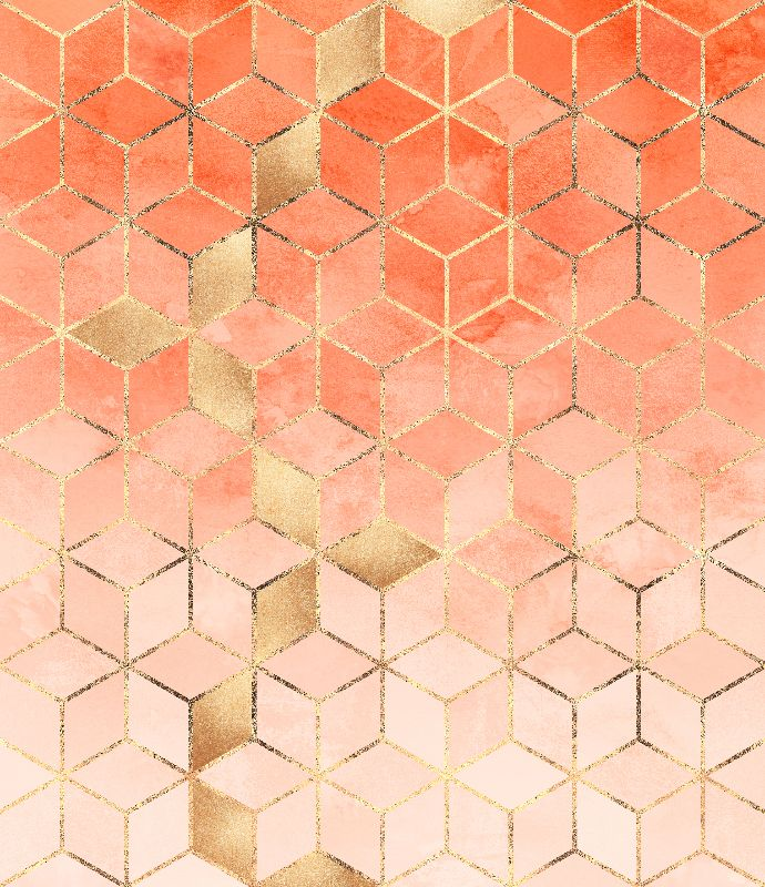 Soft Peach Gradient Cubes