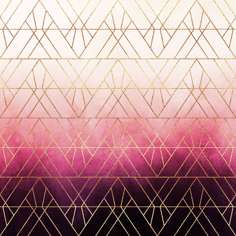 Pink Ombre Triangles