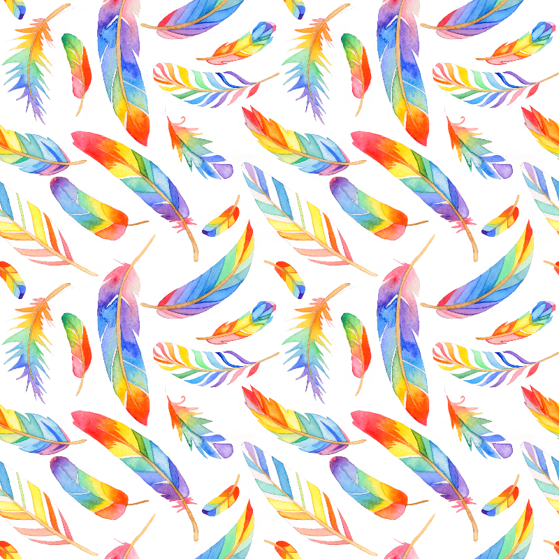 Rainbow feathers small