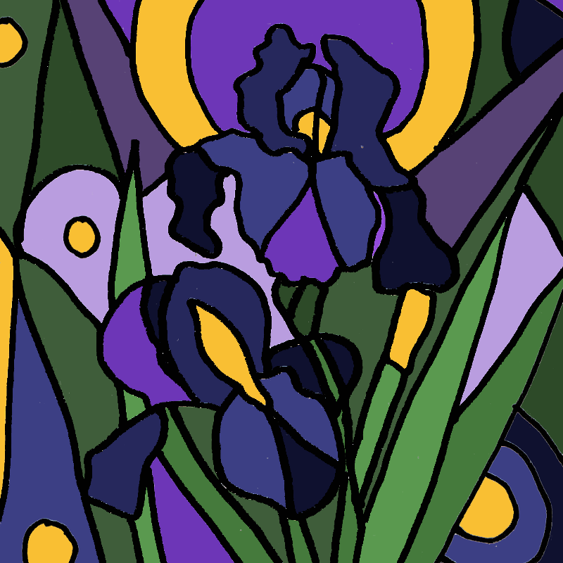 Blue Iris Abstract