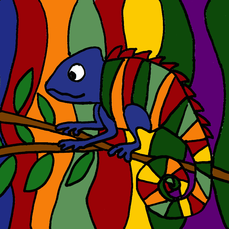 Cool Chameleon Abstract