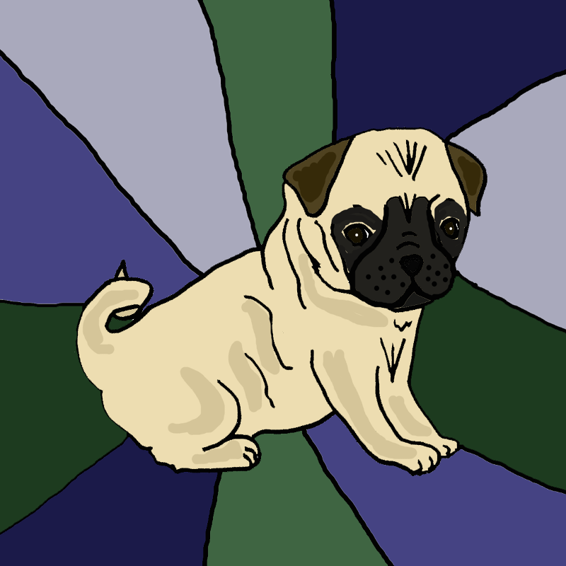 Cool Pug Dog Abstract