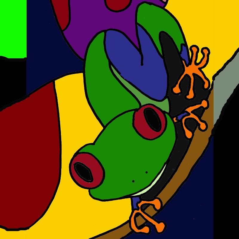 Fun Tree Frog Abstract