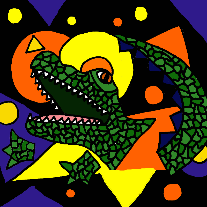 Funny Alligator Abstract