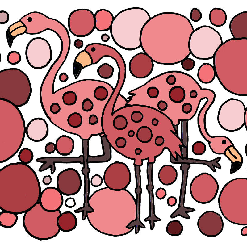 Funny Flamingo Abstract