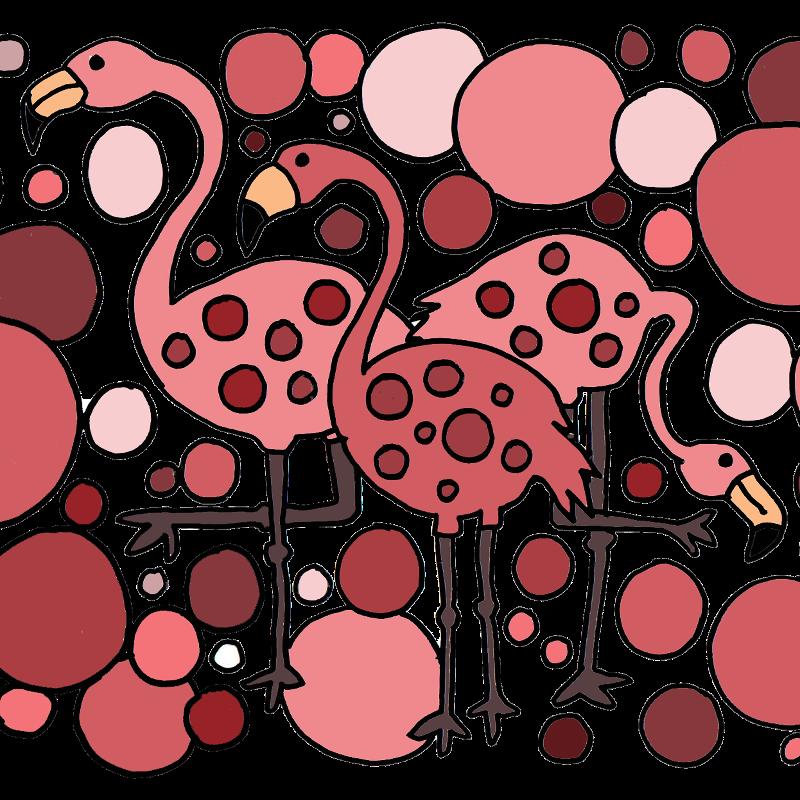 Funny Flamingo Abstract