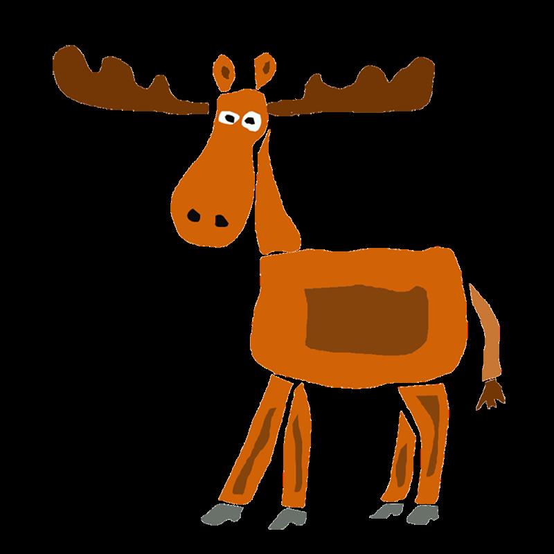 Funny Moose Art