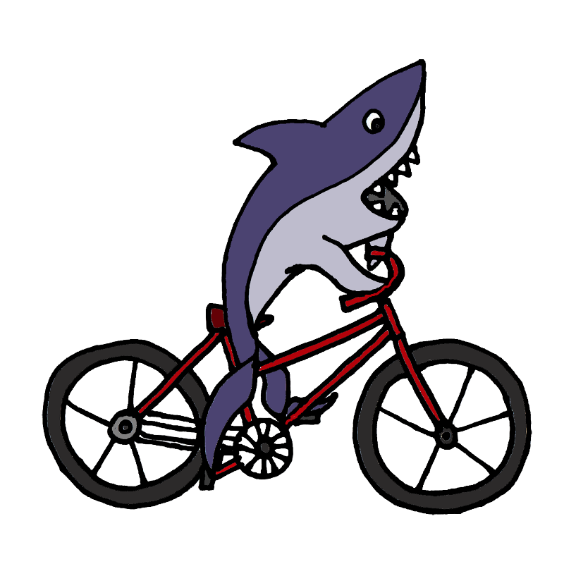 Shark on Bicycle